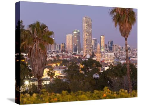 Israel, Tel Aviv, Jaffa, Downtown Buildings Viewed from Hapisgah Gardens Park-Gavin Hellier-Stretched Canvas Print