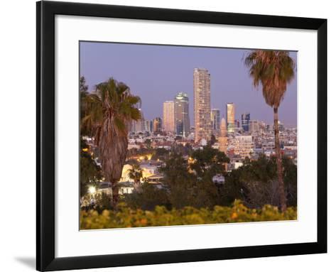 Israel, Tel Aviv, Jaffa, Downtown Buildings Viewed from Hapisgah Gardens Park-Gavin Hellier-Framed Art Print