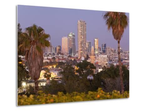 Israel, Tel Aviv, Jaffa, Downtown Buildings Viewed from Hapisgah Gardens Park-Gavin Hellier-Metal Print