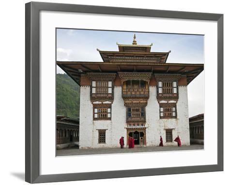 Very Fine Buddhist 17th Century Fort and Monastery at Trashi Yangtze Is Situated a Short Distance f-Nigel Pavitt-Framed Art Print