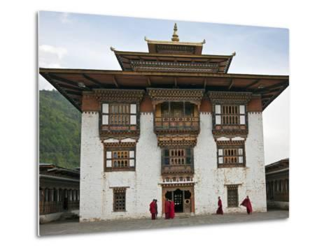 Very Fine Buddhist 17th Century Fort and Monastery at Trashi Yangtze Is Situated a Short Distance f-Nigel Pavitt-Metal Print