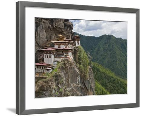 Taktshang Goemba, 'Tiger's Nest', Bhutan's Most Famous Monastery, Perched Miraculously on Ledge of -Nigel Pavitt-Framed Art Print