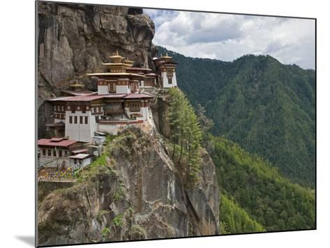 Taktshang Goemba, 'Tiger's Nest', Bhutan's Most Famous Monastery, Perched Miraculously on Ledge of -Nigel Pavitt-Mounted Photographic Print