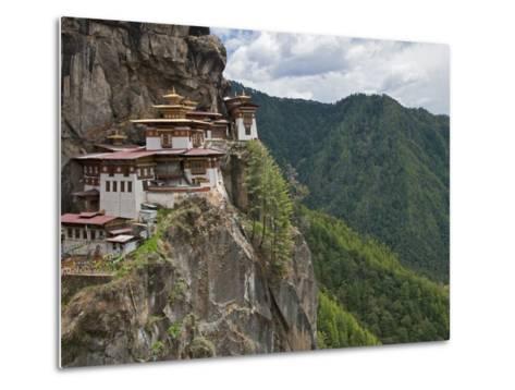 Taktshang Goemba, 'Tiger's Nest', Bhutan's Most Famous Monastery, Perched Miraculously on Ledge of -Nigel Pavitt-Metal Print