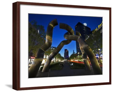 The Berlin Sculpture by Night, Tiergarten, Berlin, Germany-Cahir Davitt-Framed Art Print