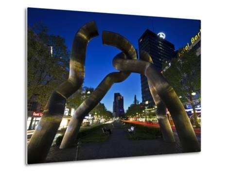 The Berlin Sculpture by Night, Tiergarten, Berlin, Germany-Cahir Davitt-Metal Print