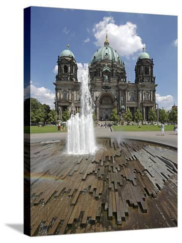 The Berlin Cathedral (Berliner Dom) in the Centre of Berlin on a Summer's Day-David Bank-Stretched Canvas Print