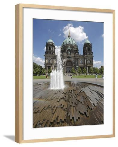 The Berlin Cathedral (Berliner Dom) in the Centre of Berlin on a Summer's Day-David Bank-Framed Art Print