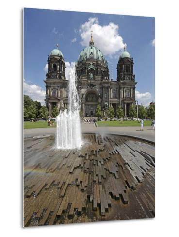 The Berlin Cathedral (Berliner Dom) in the Centre of Berlin on a Summer's Day-David Bank-Metal Print