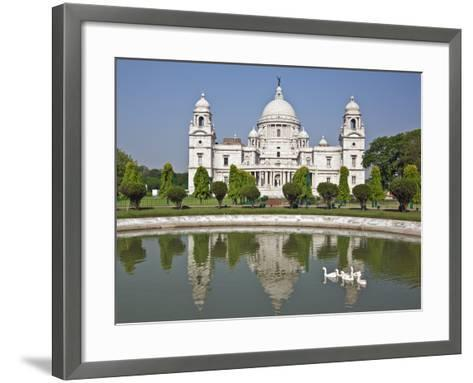 Magnificent Victoria Memorial Building with its White Marble Domes Was Built to Commemorate Queen V-Nigel Pavitt-Framed Art Print