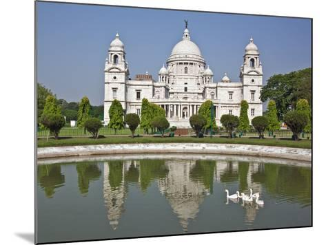 Magnificent Victoria Memorial Building with its White Marble Domes Was Built to Commemorate Queen V-Nigel Pavitt-Mounted Photographic Print