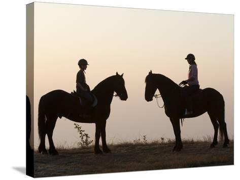 Malawi, Zomba Plateau, a Horse Riding Safari Is a Popular Way to Explore Zomba Plateau, (MR)-John Warburton-lee-Stretched Canvas Print
