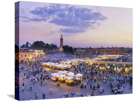 Morocco, Marrakech, Djemaa El-Fna Square-Michele Falzone-Stretched Canvas Print