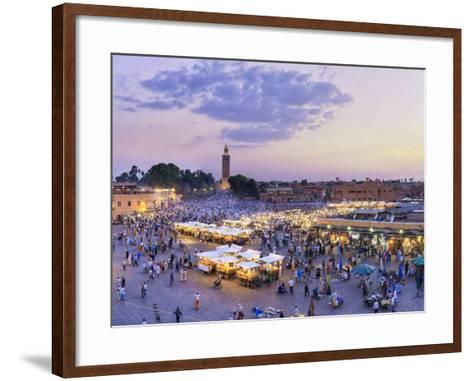 Morocco, Marrakech, Djemaa El-Fna Square-Michele Falzone-Framed Art Print