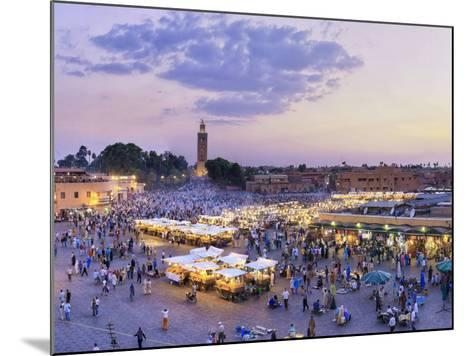 Morocco, Marrakech, Djemaa El-Fna Square-Michele Falzone-Mounted Photographic Print