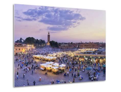 Morocco, Marrakech, Djemaa El-Fna Square-Michele Falzone-Metal Print