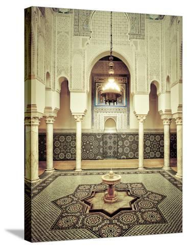 Morocco, Meknes, Medina (Old Town), Moulay Ismal Mausoleum-Michele Falzone-Stretched Canvas Print