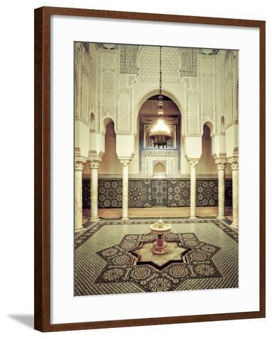 Morocco, Meknes, Medina (Old Town), Moulay Ismal Mausoleum-Michele Falzone-Framed Art Print