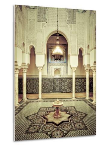 Morocco, Meknes, Medina (Old Town), Moulay Ismal Mausoleum-Michele Falzone-Metal Print