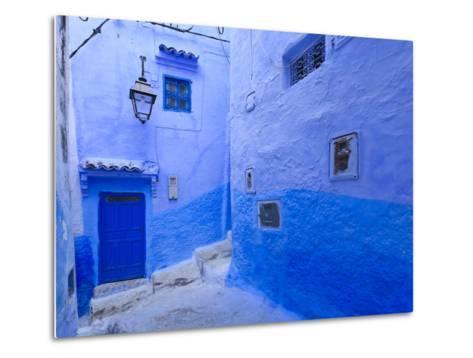 Morocco, Rif Mountains, Chefchaouen, Medina-Michele Falzone-Metal Print