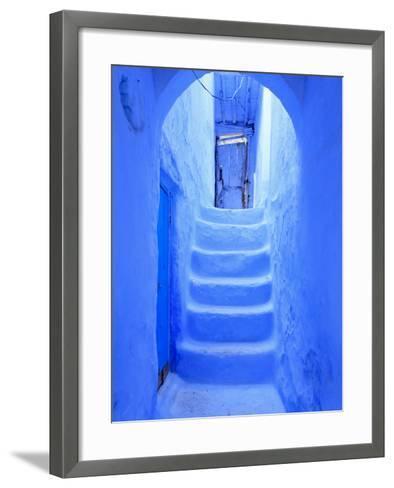 Morocco, Rif Mountains, Chefchaouen, Medina-Michele Falzone-Framed Art Print