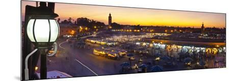 Elevated View over Djemaa El-Fna Square at Sunset, Marrakesh, Morocco-Doug Pearson-Mounted Photographic Print