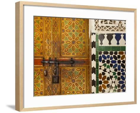 Interior Door Detail, Moulay Ismal Mousoleum, Medina, Meknes, Morocco-Doug Pearson-Framed Art Print