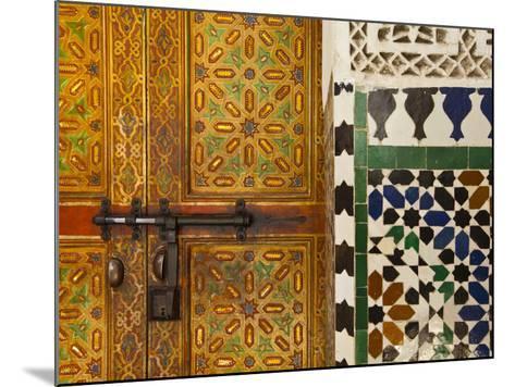 Interior Door Detail, Moulay Ismal Mousoleum, Medina, Meknes, Morocco-Doug Pearson-Mounted Photographic Print