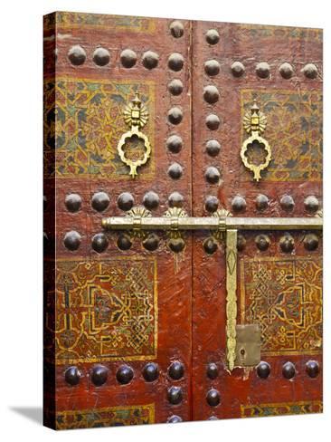 Ornate Door, Sidi Ahmed Tijani Mosque, the Medina, Fes, Morocco-Doug Pearson-Stretched Canvas Print