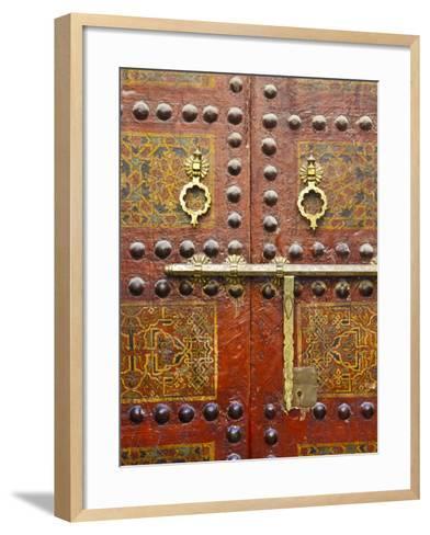 Ornate Door, Sidi Ahmed Tijani Mosque, the Medina, Fes, Morocco-Doug Pearson-Framed Art Print