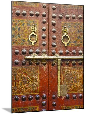 Ornate Door, Sidi Ahmed Tijani Mosque, the Medina, Fes, Morocco-Doug Pearson-Mounted Photographic Print