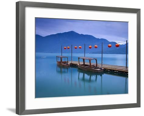 Taiwan, Nantou, Sun Moon Lake, Hanbi Peninsula, Late President Chiang Kai-Shek's Private Wharf-Jane Sweeney-Framed Art Print