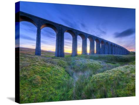 UK, England, North Yorkshire, Ribblehead Viaduct on the Settle to Carlisle Railway Line-Alan Copson-Stretched Canvas Print