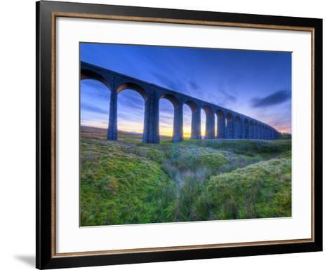 UK, England, North Yorkshire, Ribblehead Viaduct on the Settle to Carlisle Railway Line-Alan Copson-Framed Art Print