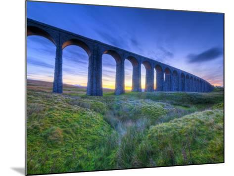 UK, England, North Yorkshire, Ribblehead Viaduct on the Settle to Carlisle Railway Line-Alan Copson-Mounted Photographic Print