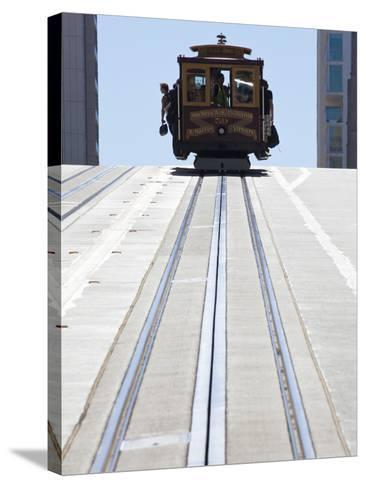Cable Car Crossing California Street in San Francisco, California, USA-Gavin Hellier-Stretched Canvas Print