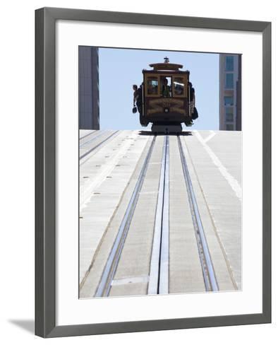 Cable Car Crossing California Street in San Francisco, California, USA-Gavin Hellier-Framed Art Print