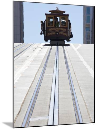 Cable Car Crossing California Street in San Francisco, California, USA-Gavin Hellier-Mounted Photographic Print