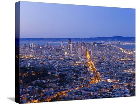 City Skyline Viewed from Twin Peaks, San Francisco, California, USA-Gavin Hellier-Stretched Canvas Print