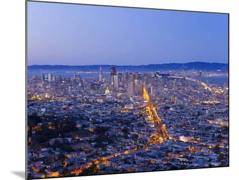 City Skyline Viewed from Twin Peaks, San Francisco, California, USA-Gavin Hellier-Mounted Photographic Print