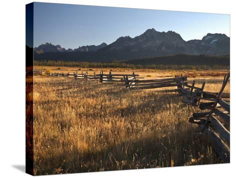 Stanley, Idaho Is the Gateway to the Sawtooth Mountains, Frank Church Wilderness-Sean Bagshaw-Stretched Canvas Print