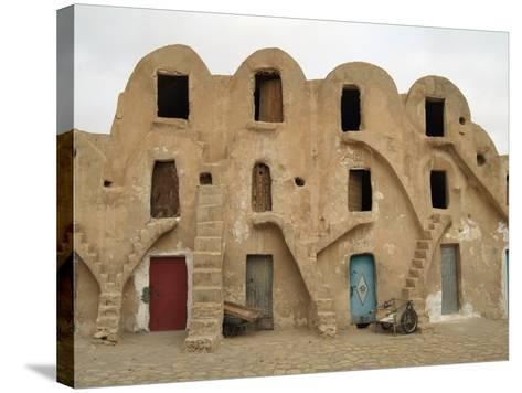 Traditional Ksar, Berber Village, Fortified Granary, Medenine, Tunisia-Gary Cook-Stretched Canvas Print