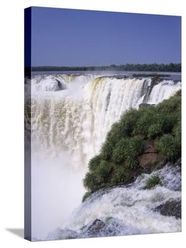 Devils Throat on the Argentina Side of Iguazu Falls (Iguacu)-Gary Cook-Stretched Canvas Print