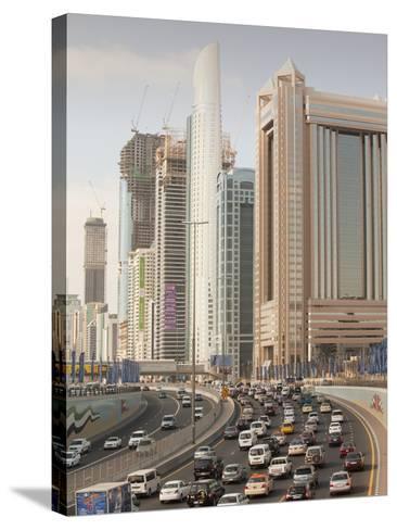 Traffic in Dubai City-Ashley Cooper-Stretched Canvas Print