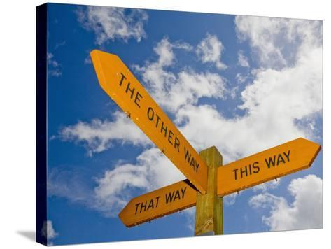 An Interesting and Humorous Signpost-Ashley Cooper-Stretched Canvas Print