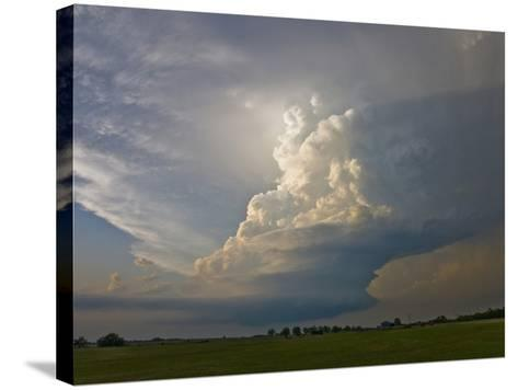 A Supercell Storm Near Oklahoma City, Oklahoma-Charles Doswell-Stretched Canvas Print
