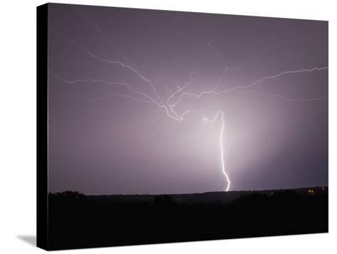 Intracloud and Cloud-To-Ground Lightning East of Norman, Oklahoma, USA-Charles Doswell-Stretched Canvas Print