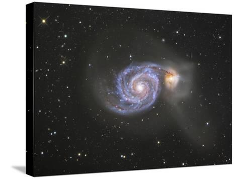 M51 (NGC 5194 and 5195) Colliding Galaxies in Canes Venatici-Robert Gendler-Stretched Canvas Print