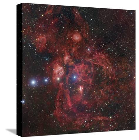 The Lobster Nebula in Scorpius, NGC 6357-Robert Gendler-Stretched Canvas Print