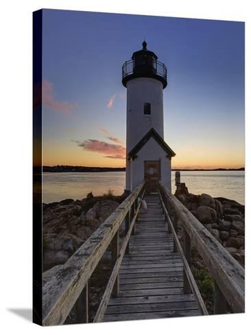 Annisquam Lighthouse at Sunset, Wigwam Point, Ipswitch Bay, Near Gloucester, Massachusetts-Adam Jones-Stretched Canvas Print